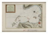Carte de la baie de Saint-Louis à Saint-Domingue