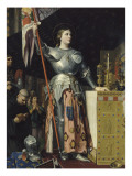 Jeanne d&#39;Arc au sacre du roi Charles VII dans la cath&#233;drale de Reims