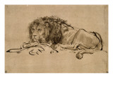 Lion au repos Giclée par Rembrandt Van Rijn
