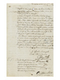 Lettre des officiers municipaux de la ville d&#39;Ajaccio