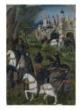 """Feuillet du """"Romuléon"""" de Benvenuto d'Imola pour Charles de France : prise d'une ville"""