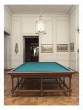 Vue intérieure : cabinets intérieurs du Roi : salon de billard de Louis XVI
