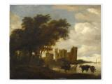 Paysage avec le château d'Egmond