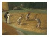 Paysage aux batteurs de blé