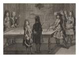 Louis XIV jouant au billard