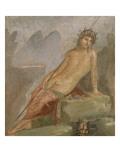 Maison de Marcus Lucretius Fronto; Narcisse se mirant dans l'eau d'un ruisseau (détail)