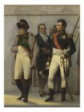 Napoléon Ier visitant l'escalier du Louvre sous la conduite des architectes Percier et Fontaine