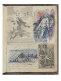 Album Noa-Noa : Estampes Japonaises ; gravure de Lucas de Leyde et copies d'après Delacroix