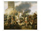 Le comte Eudes défend Paris contre les Normands en 886