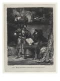 Méphistophélés apparaissant à Faust  2ème état  1827