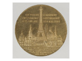 Medal: Inauguration of the Eiffel Tower  May 6  1889