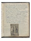 Album Noa Noa : Texte manuscrite et gravure de Lucas de Leyde