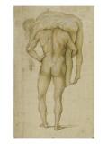 Homme nu avec un cadavre sur les épaules