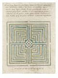 Modèle de labyrinthe de jardin