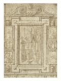 Modello d'un trumeau  avec le chiffre d'Henri IV