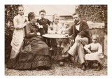 Mr and Mrs Gustave Eiffel and their Five Children in their Garden Levallois