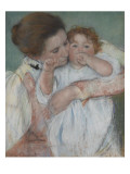 Mother and Child on a Green Background or Maternity