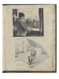 Album Noa Noa : Collage de deux coupures de presse   regrets Daumier
