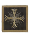 Pale Black Velvet Embroidered with Gold and Silver