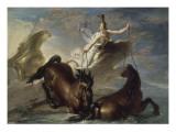 Minerve abreuve ses chevaux dans l'océan au retour d'un combat