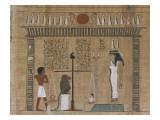 Papyrus funéraire : scène de psychostasie (pesée de l'âme)