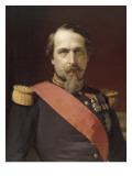 Napoléon III  en uniforme de général de Division  dans son Grand Cabinet aux Tuileries  en 1862