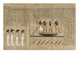 Papyrus mythologique d&#39;Imenemsaouf  Sup&#233;rieur des porteurs de bouclier-quera d&#39;Amon