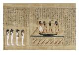 Papyrus mythologique d'Imenemsaouf  Supérieur des porteurs de bouclier-quera d'Amon