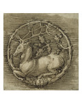 Ornament with a Deer Lying in a Circle of Oak Branch