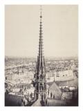 Paris  Flèche de Notre-Dame  en plomb et cuivre martelé  Viollet le Duc