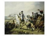 Napoléon Ier à la bataille de Wagram  6 juillet 1809 (il est accompagné du général Bessières)