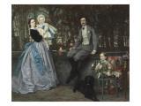 Portrait du marquis et de la marquise de Miramon et de leurs enfants