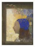 Portrait de jeune femme au bonnet bleu