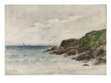 Côte rocheuse au bord de la mer