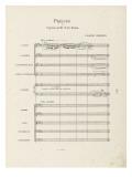 """Prélude à """"l'après-midi d'un faune"""" : Partition d'orchestre : page 1"""