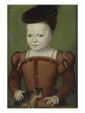 Portrait présumé de Charles IX à l'âge de trois ans et demi  jouant avec un chat
