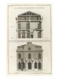 Planche 23: Coupe et profil pris sur large de l'hôtel de Villeroy (ancien hôtel de Mlmares)