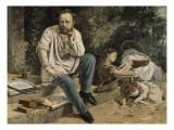 Pierre-Joseph Proudhon et ses enfants en 1853