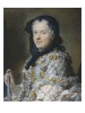 Portrait de Marie Leczinska (1703-1768)  reine de France  femme de Louis XV