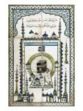 Plaque représentant la mosquée de la Mekke