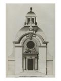 Planche 255 :  élévation du portrail de l'église de la Visitation Sainte-Marie bâtie par