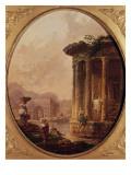 Ruines romaines avec personnages