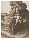 Photographie de la Madone à l'Enfant des Offices par Mantegna
