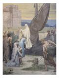 Sainte Geneviève ravitaille Paris assiégé par les Huns d'Attila