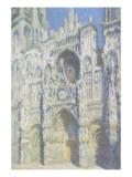 Cathédrale de Rouen  le portail et la tour Saint Romain  plein soleil  harmonie bleue et or