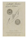 Printed in Black Medal with Inscription: Expo 1867