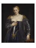 Portrait de femme dit La Belle Nani Avec cadre