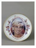 Assiette imprimé orné du portrait de la princesse Diana