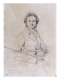 Portrait of Niccolo Paganini  Violinist (1782-1840)