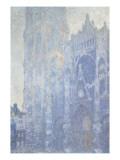 Cathédrale de Rouen Le portail et la tour Saint-Romain  effet du matin  harmonie blanche